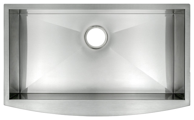 "33""x22""x9"" Apron Farmhouse Handmade Modern One Basin Kitchen Sink Stainless."