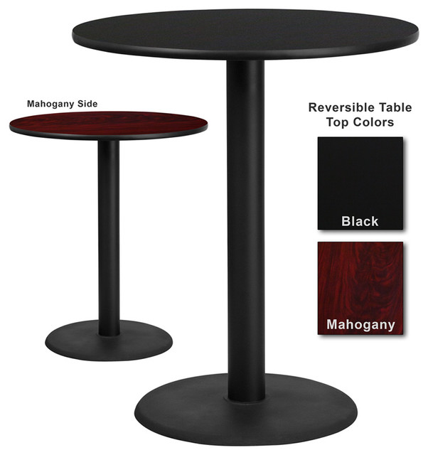 Flash Furniture 36 Inch Round Bar Table With Reversible