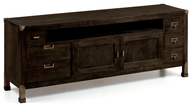 Industrial 6-Drawer Entertainment Centre.