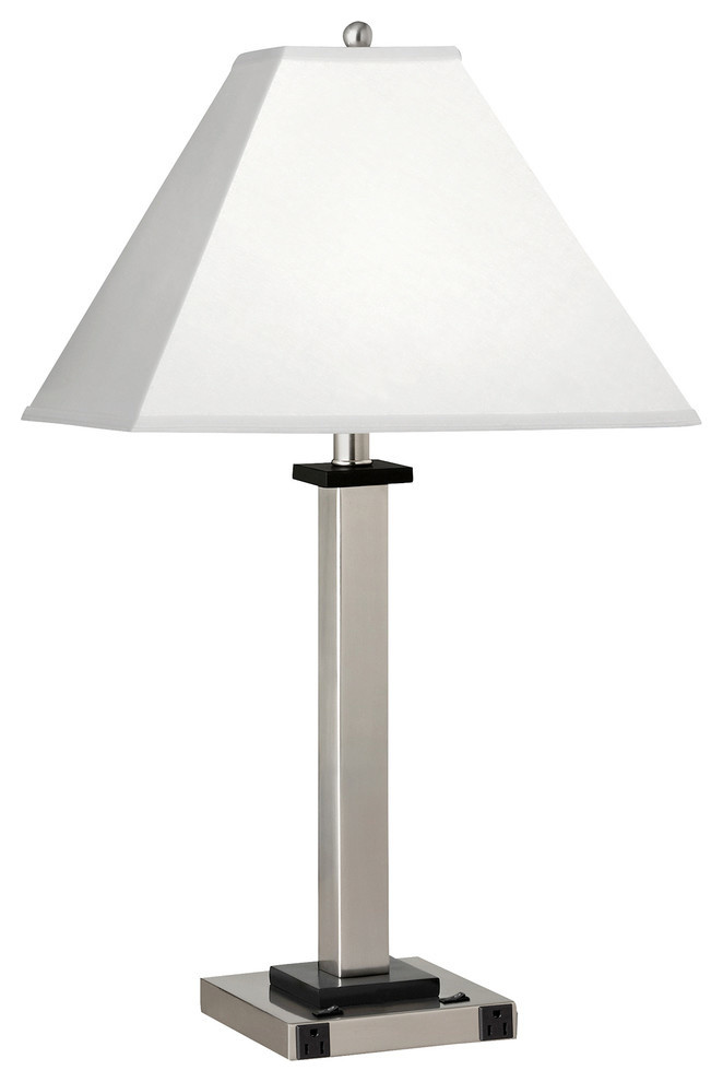 Twin Light Double Nightstand Lamp Single Transitional Table Lamps By Medallion Lighting