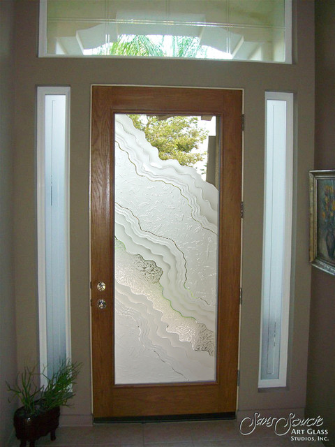 Simple Glass Front Doors Entry Sandblast Frosted Metamorphosis Iii Eclecticentrance A Intended Inspiration