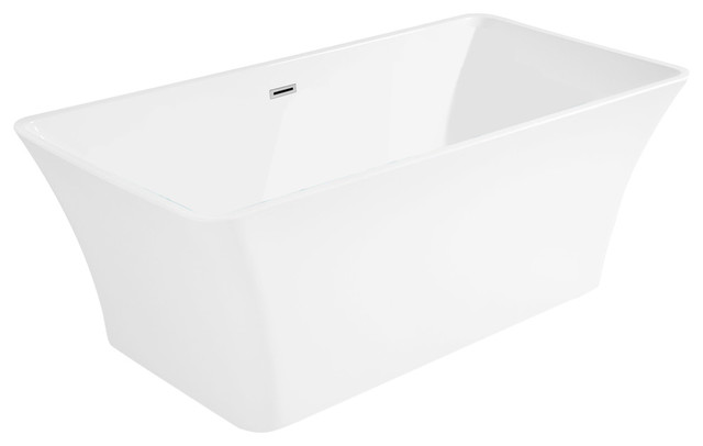AKDY AK-ZF295 European Style White Acrylic Free Standing Bathtub, 67 by AKDY Home Improvement