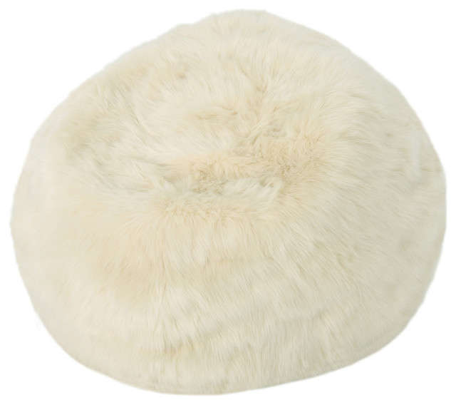 Groovy Gdf Studio Laraine Furry Glam Taupe Faux Fur 3 Bean Bag Machost Co Dining Chair Design Ideas Machostcouk