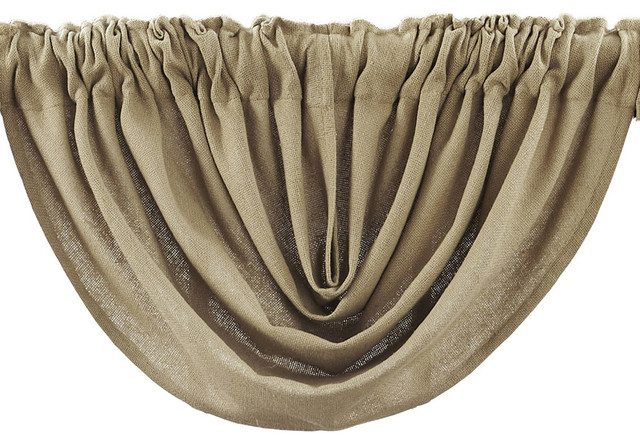 Burlap Natural Balloon Valance.