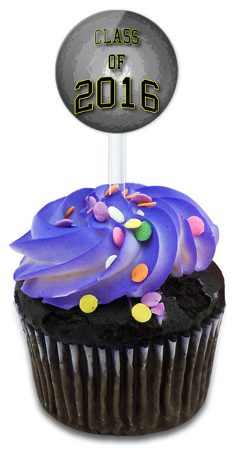 Class Of 2016 Graduation Cupcake Toppers Picks Set.