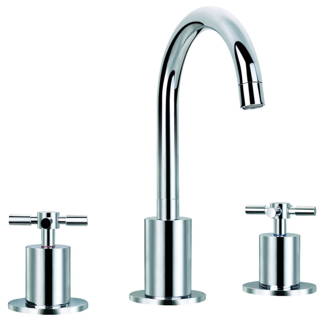 Prima 3 Piece Bathroom Faucet Set Chrome Contemporary Bathroom Faucets A