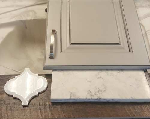 Light Grey Stained Cabinets Alder Cherry Or QS Oak - Light grey stained cabinets