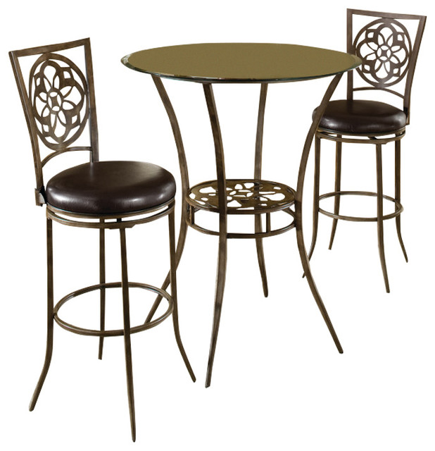 bistro dining 3 piece set transitional indoor pub and bistro sets