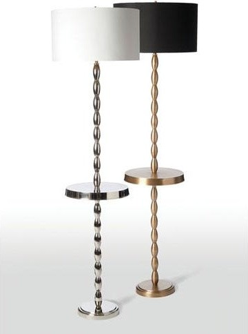 Barbara Cosgrove Swell Floor Lamp With Table Top