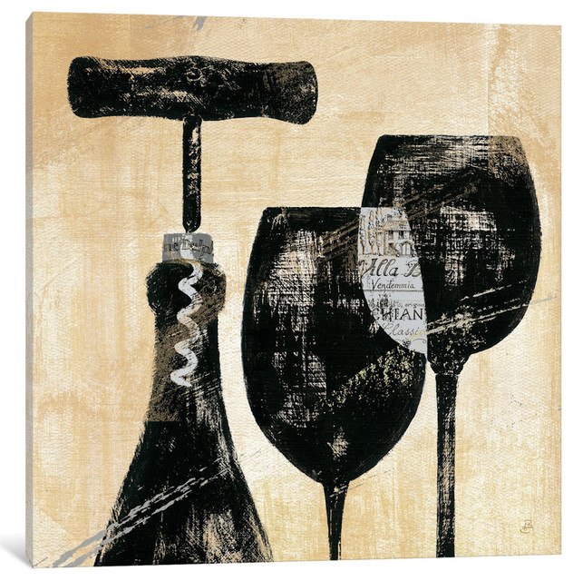 """""""wine Selection Ii Gallery"""" By Daphne Brissonnet, 26x26x0.75""""."""