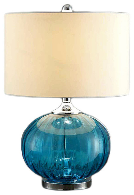 Crestview New Port Table Lamp In Glass Finish.