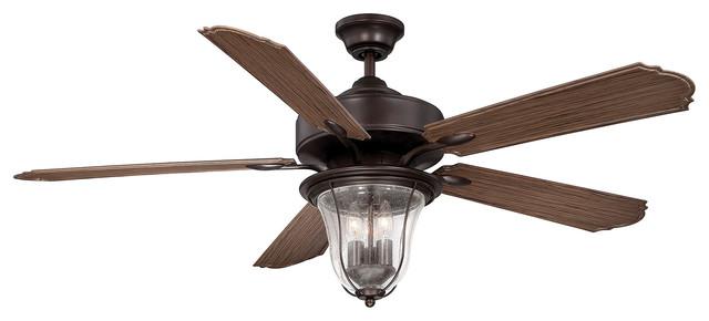 "Savoy House Trudy 52"" 5-Blade Fan, English Bronze"
