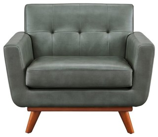 Lyon Smoke Gray Chair - Midcentury - Armchairs And Accent ...