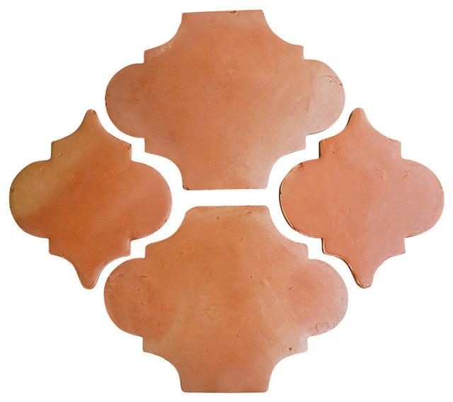 Riviera Pattern Terra Cotta Saltillo Mexican Floor Tile