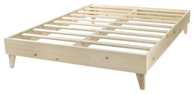 Natural - Diy Finish - North American Pine Artisan Platform Bed, King.