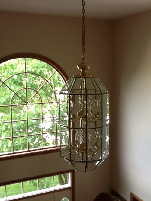 Two Story Foyer Ceiling Fan : Rule of thumb for size lighting fixtures