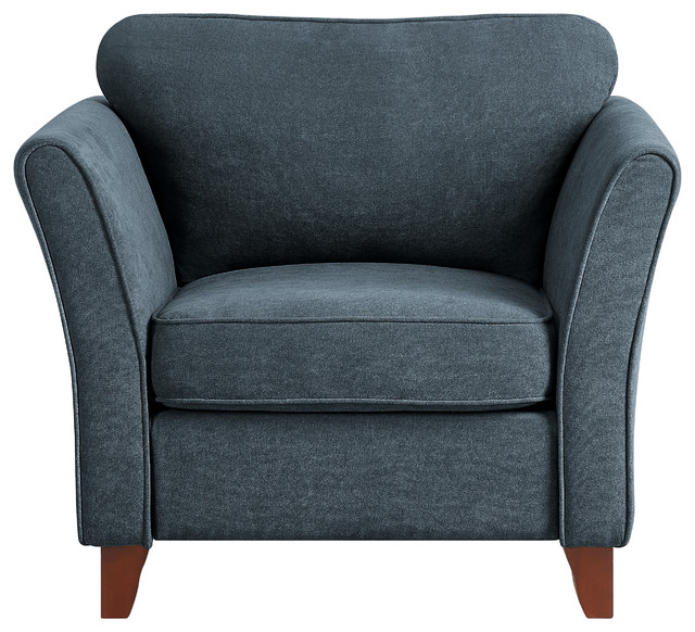 Elevated Accent Chair, Dark Gray