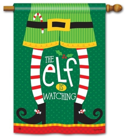 """elf Is Watching"" House Flag."