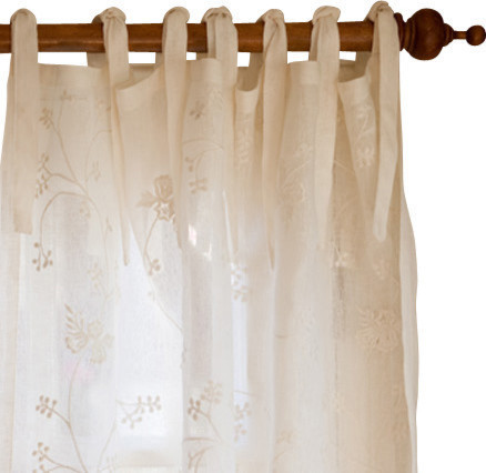Taylor Linens Matilda Curtain Panel Linen Voile - Curtains | Houzz