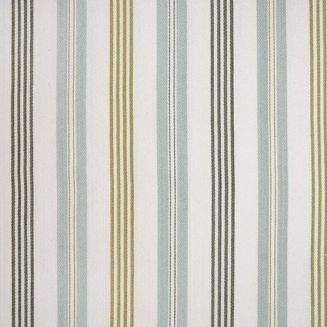 Seaspray Blue Stripe Cotton Woven Upholstery Fabric