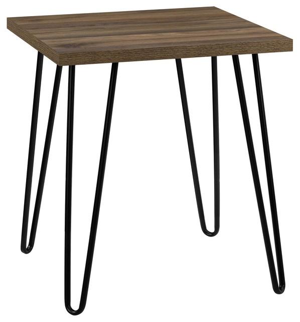 Maxwell Retro End Table, Walnut.