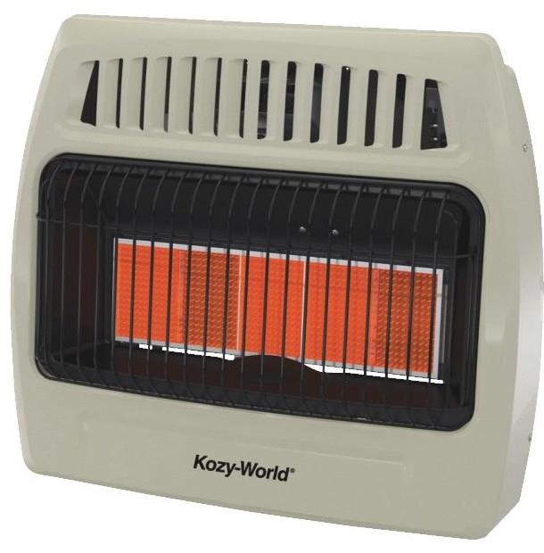 Kozy World Kwd525 30000 Btu 5 Plaque Dual Fuel Infrared Vent Free Wall Heater