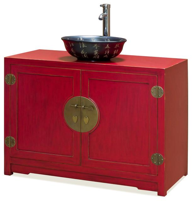 Asian Bathroom Vanity Cabinets Elmwood Ming Vanity Cabinet   Asian   Bathroom  Vanities And Sink