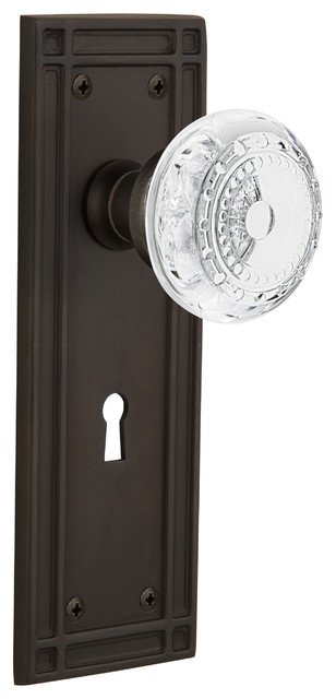 Mortise 2.25 Oil-Rubbed Bronze Nostalgic Warehouse Classic Rosette with Chateau Door Knob