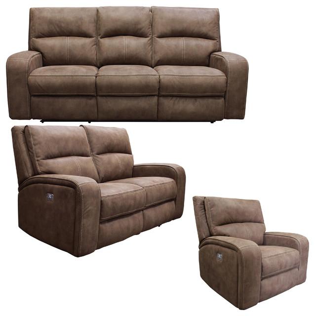 Parker Living, Polaris 3-Piece Dual Reclining Power Living Room Set.