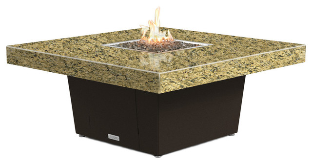 Square Fire Pit Table 48x48 Chat Height Propane Santa