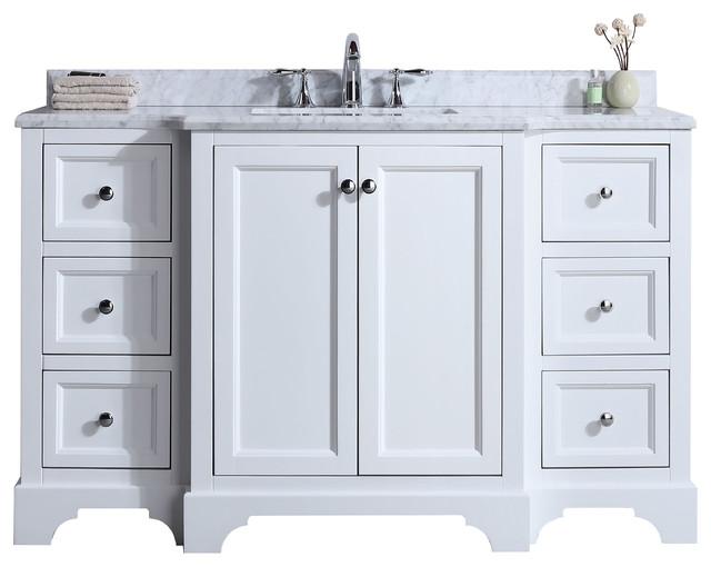 Jenny 55 Single Sink Bathroom Vanity Set White