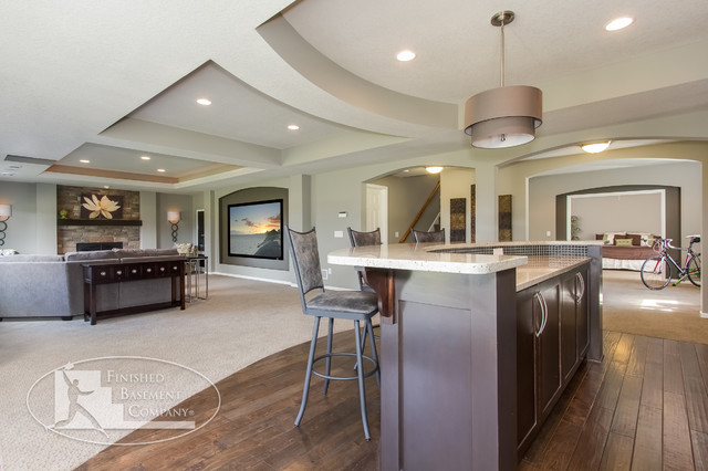Shorewood Basement - Contemporary - Basement - Minneapolis - by Finished Basement Company