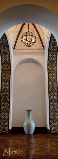 Spanish Arch Hallway With Groin Vault Mediterranean