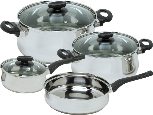 7-Piece Deliss Stainless Steel Cookware Set.