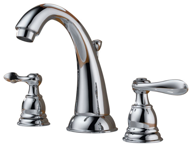 Delta Faucet B3596lf Windemere Polished Chrome Two Handle: Delta B3596Lf Windemere Widespread Bathroom Faucet With