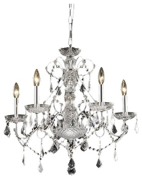 Traditional New Orleans 5light Crystal Chandelier Traditional – Traditional Crystal Chandelier