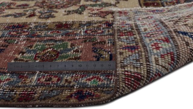 """Vintage Area Rug Natural 6'11""""x10'8"""" One of a Kind Turkish Vintage Rug"""