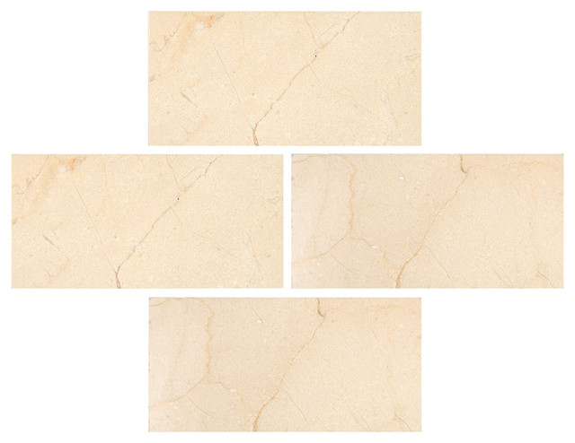 3 X6 Crema Marfil Polished Subway Marble Tiles