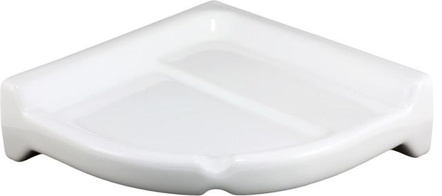Beautiful Subway Bright White Fixtures Ceramic Corner Shelf  Traditional Bathroom Cabinets And Shelves