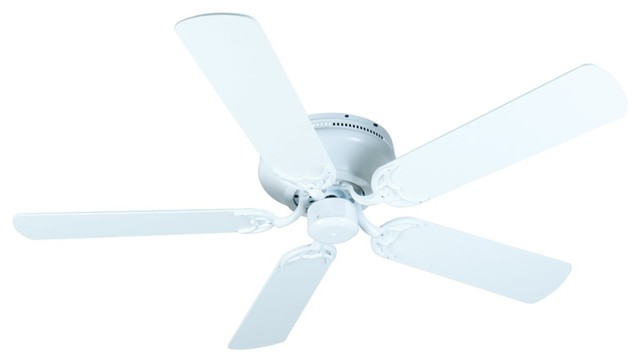 """Craftmade 52"""" Pro Contemporary Flushmount Ceiling Fan Kit, White"""