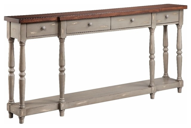 Leonila 4-Drawer Hall Table.