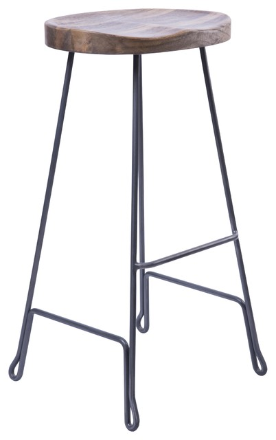 Hershel Metal and Wood Bar Stool