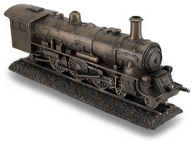 Bronze Finish Steam Locomotive Engine Statue Incredibly