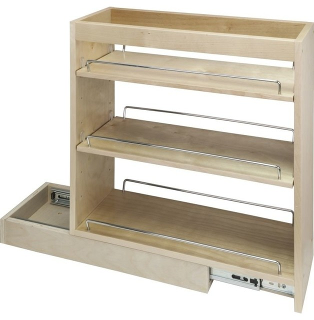 "Hardware Resources Bpo5sc 9"" Base Cabinet Pull Out Shelves With Soft Close."