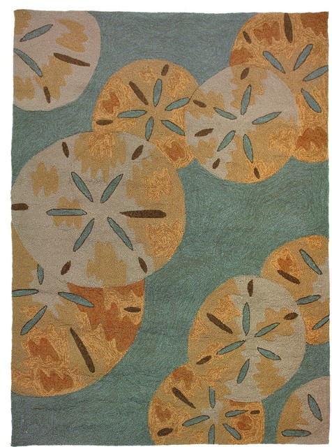 Shop Houzz Contemporary Sanddollars By The Sea Area Rug