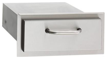 Single Storage Drawer, Stainless Steel.