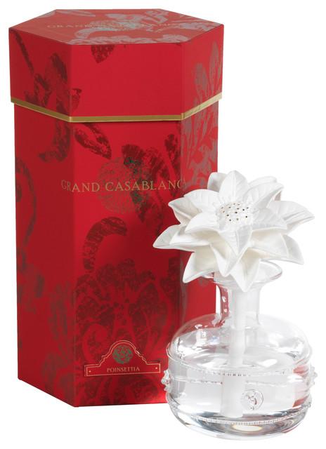 10 Tall Grand Casablanca Porcelain Diffuser Poinsettia Fragrance