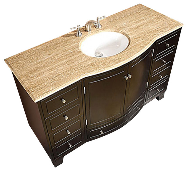 55 Single Sink Bathroom Vanity With Choice Of Top Transitional
