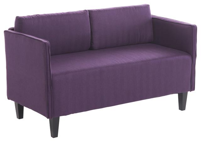 Etonnant Sophie Living Room Office Fabric Loveseat, Dark Purple