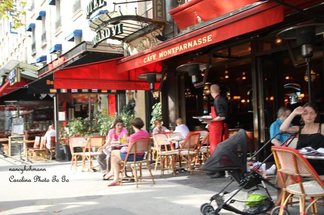 Paris France Sidewalk Cafe Street Scene Red Eclectic